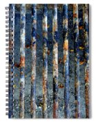 Grill Abstract Spiral Notebook