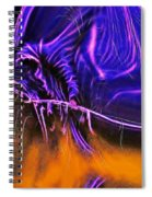 Grim Reaper In Abstract Spiral Notebook
