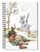 Grimm: Wolf And Seven Kids Spiral Notebook