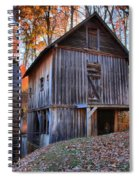 Grist Mill Under Fall Foliage Spiral Notebook