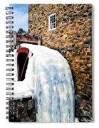 Grist Mill In Winter Spiral Notebook