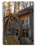 Grist Mill With A Golden Glow Spiral Notebook