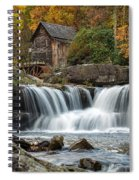 Grist Mill With Vibrant Fall Colors Spiral Notebook