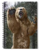 Grizzly Bear Attack On The Trail Spiral Notebook