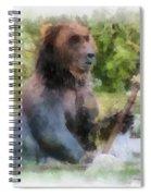 Grizzly Bear Photo Art 01 Spiral Notebook