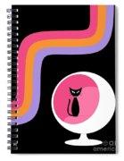 Groovy Stripes 3 Spiral Notebook