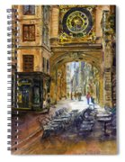 Gros Horlaoge Rouen France Spiral Notebook