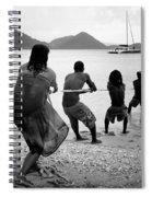 Gros Islet Fishermen Spiral Notebook