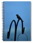 Grosbeak Silhouette Spiral Notebook