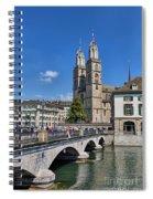 Grossmuenster Zurich Spiral Notebook
