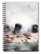 Grotto Geyser Yellowstone National Park Spiral Notebook