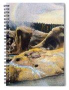 Grotto Geyser Yellowstone Np 1928 Spiral Notebook