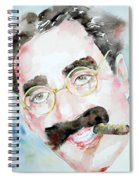 Groucho Marx Watercolor Portrait.2 Spiral Notebook
