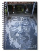 ground mosaic in the cultural center of Granada Nicaragua Spiral Notebook