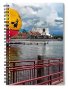 Grounded By The Storm Balloon Ride Walt Disney World Spiral Notebook