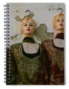 Group Of Mannequins In A Market Stall Spiral Notebook