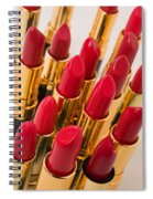 Group Of Red Lipsticks Spiral Notebook