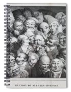 Group Of Thirty-five Heads Spiral Notebook