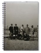 The Wright Brothers Group Portrait In Front Of Glider At Kill Devil Hill Spiral Notebook