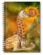 Growing Tall - Giraffe Spiral Notebook