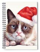 Grumpy Cat As Santa Spiral Notebook