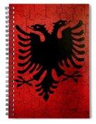 Grunge Albania Flag Spiral Notebook
