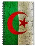 Grunge Algeria Flag Spiral Notebook