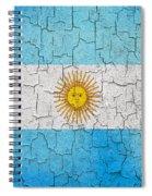 Grunge Argentina Flag Spiral Notebook