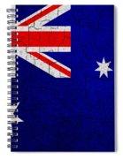 Grunge Australia Flag Spiral Notebook