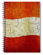 Grunge Austria Flag Spiral Notebook