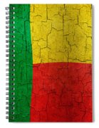 Grunge Benin Flag Spiral Notebook