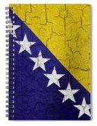 Grunge Bosnia And Hertzegoniva Flag Spiral Notebook
