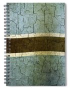 Grunge Botswana Flag Spiral Notebook
