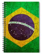 Grunge Brazil Flag Spiral Notebook