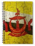 Grunge Brunei Flag Spiral Notebook