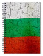 Grunge Bulgaria Flag Spiral Notebook