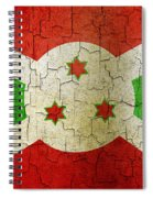 Grunge Burundi Flag Spiral Notebook