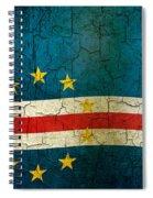 Grunge Cape Verde Flag Spiral Notebook