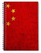 Grunge China Flag Spiral Notebook