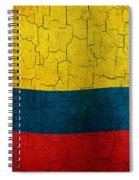Grunge Colombia Flag Spiral Notebook