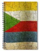 Grunge Comoros Flag Spiral Notebook
