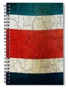 Grunge Costa Rica Flag Spiral Notebook