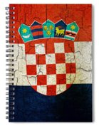 Grunge Croatia Flag Spiral Notebook