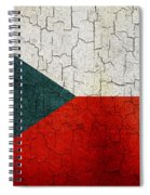 Grunge Czech Republic Flag Spiral Notebook