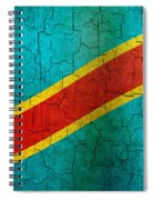 Grunge Democratic Republic Of The Congo Flag Spiral Notebook