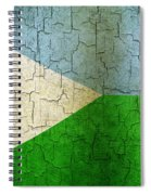 Grunge Djibouti Flag Spiral Notebook