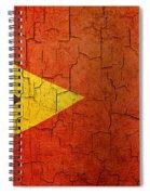 Grunge East Timor Flag Spiral Notebook