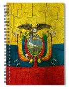Grunge Ecuador Flag Spiral Notebook