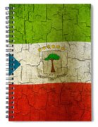 Grunge Equatorial Guinea Flag Spiral Notebook