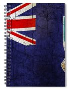 Grunge Falkland Islands Flag Spiral Notebook